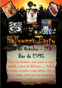 cartaz halloween party